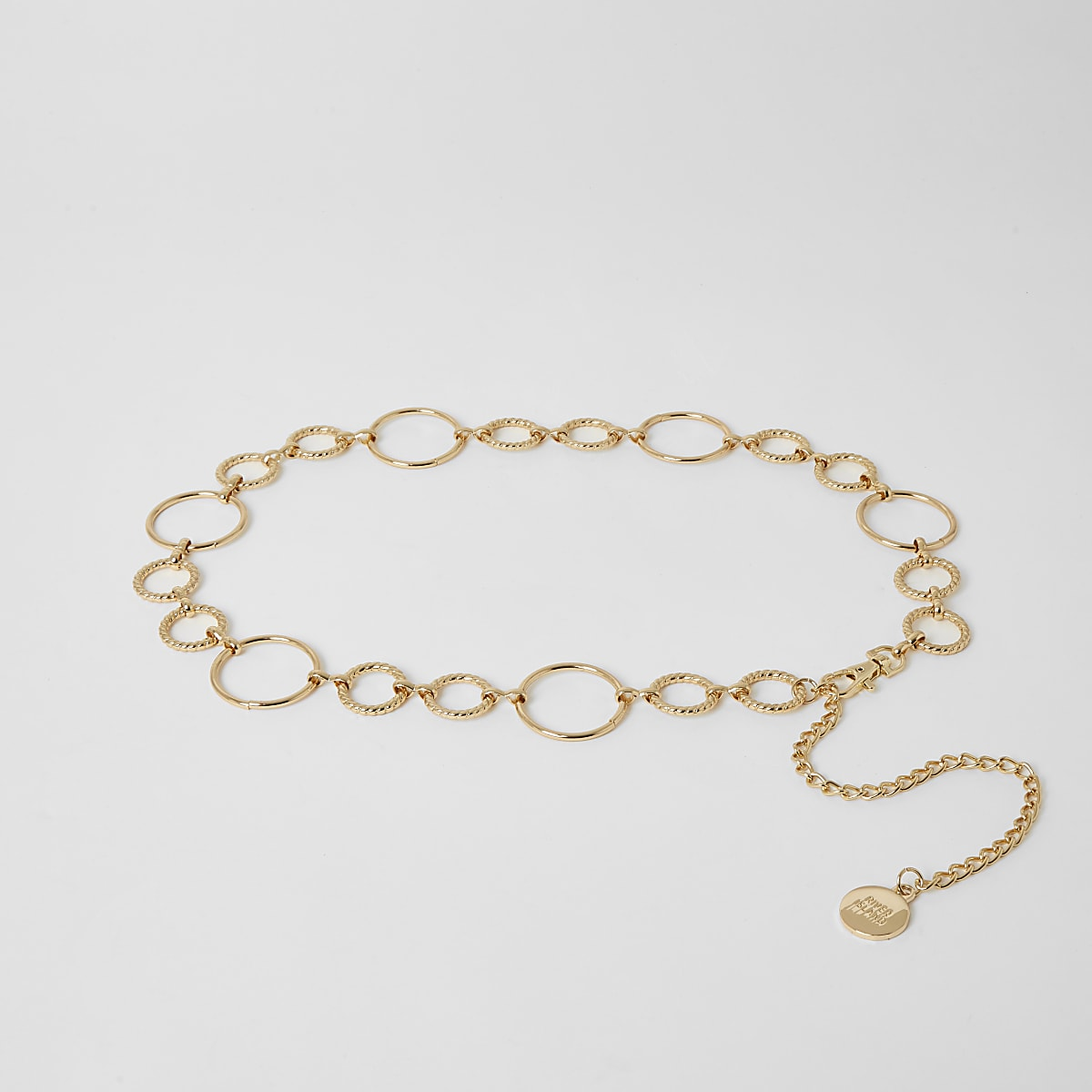 Gold circle chain waistbelt