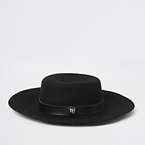 Chapeau fedora noirà bande en PU