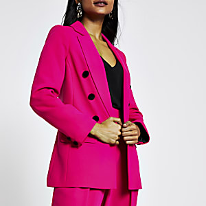 RI Petite - Roze blazer met open voorkant