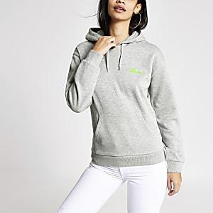 Tee & Cake - Grijze hoodie met 'Lost weekends' print