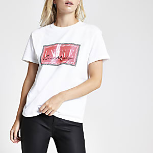 """Petite – Weißes T-Shirt """"Unique C'est Magnifique"""""""