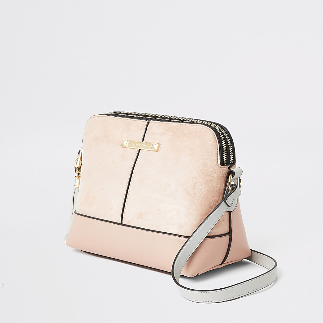 Light pink cross body bag