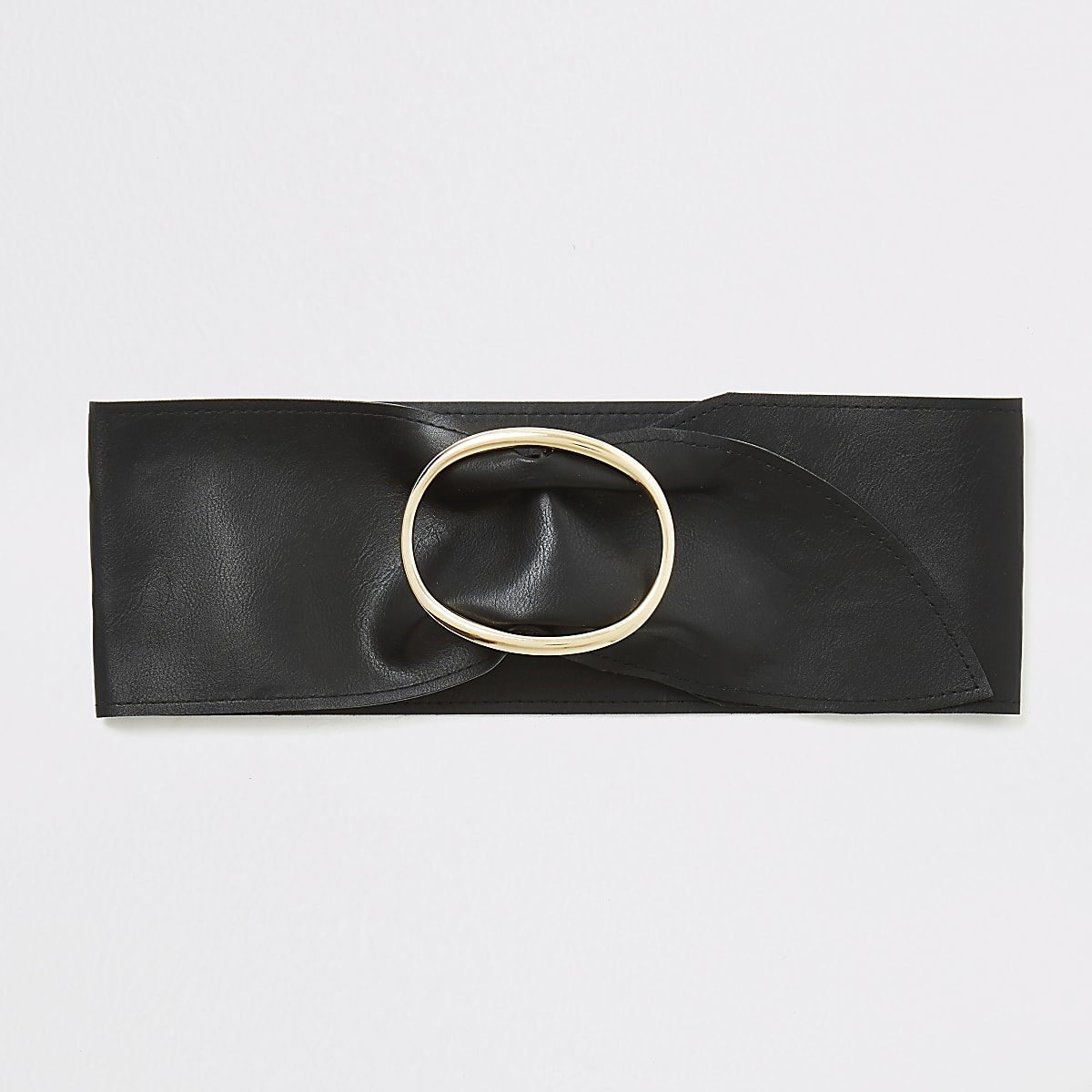 Black sash waist belt
