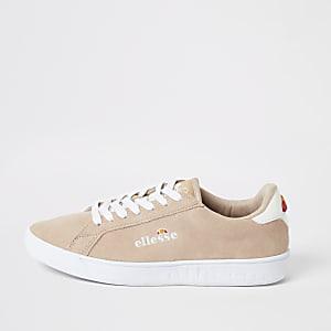 Ellesse - Roze suède sneakers met vetersluiting