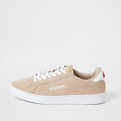 Ellesse pink suede lace-up trainers