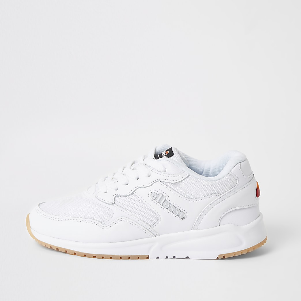 Ellesse NYC84 white lace-up trainers