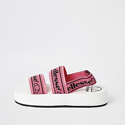 Ellesse pink strap flatform sandals