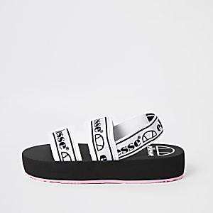 Ellesse– Sandales à semelle plateforme et bride noires