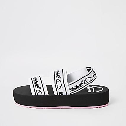 Ellesse black strap flatform sandals