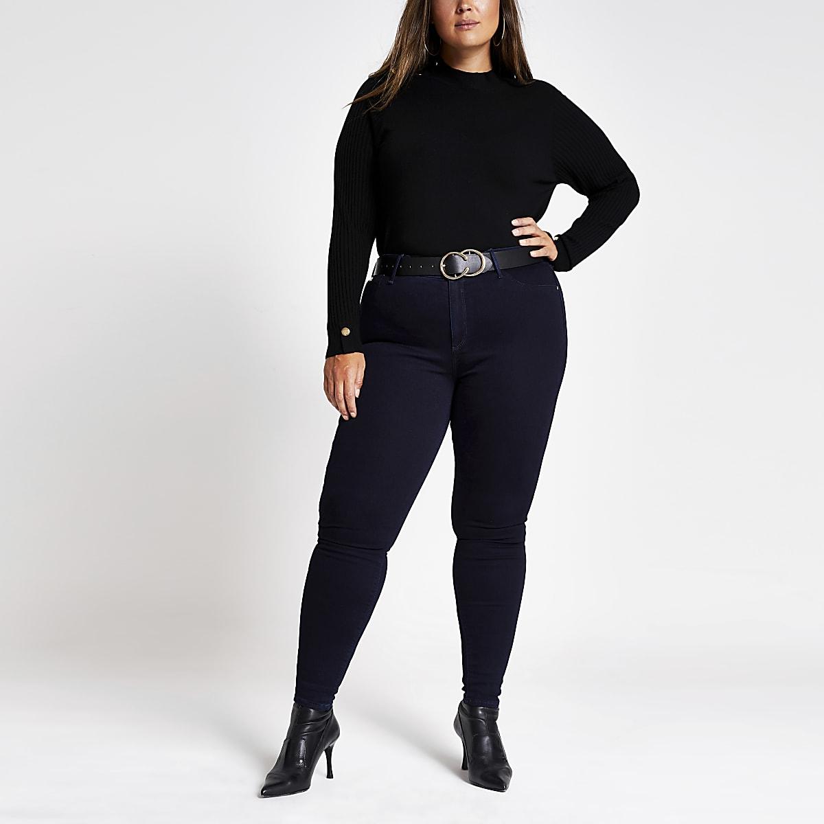 Plus navy Molly denim jeans