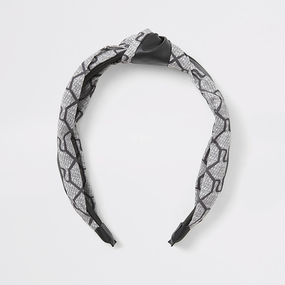 Grey RI monogram knot headband