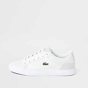 Lacoste – Weiße Ledersneaker mit Logo