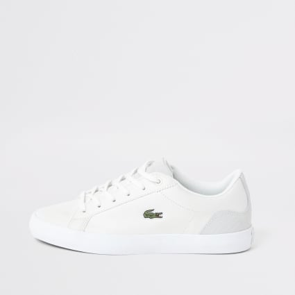 Lacoste white leather logo trainer