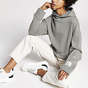 Dua Lipa x Pepe Jeans - Hoodie in Grau