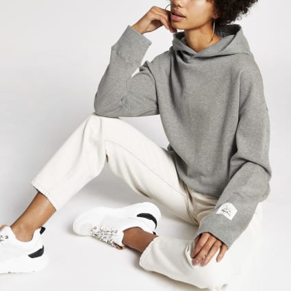 Dua Lipa x Pepe Jeans grey hoodie