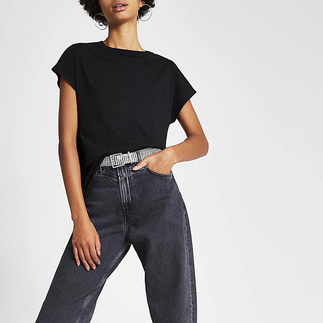Dua Lipa x Pepe Jeans black T-shirt