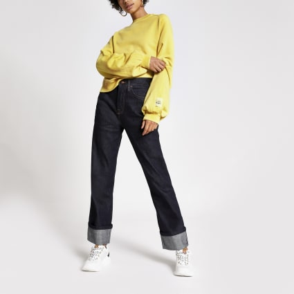Dua Lipa x Pepe Jeans yellow sweatshirt
