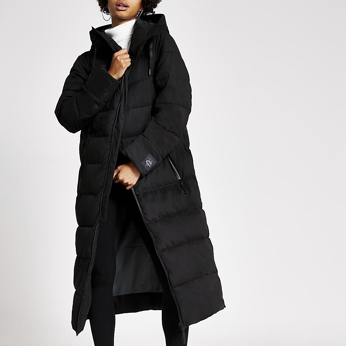 Dua Lipa X Pepe Jeans black puffer coat