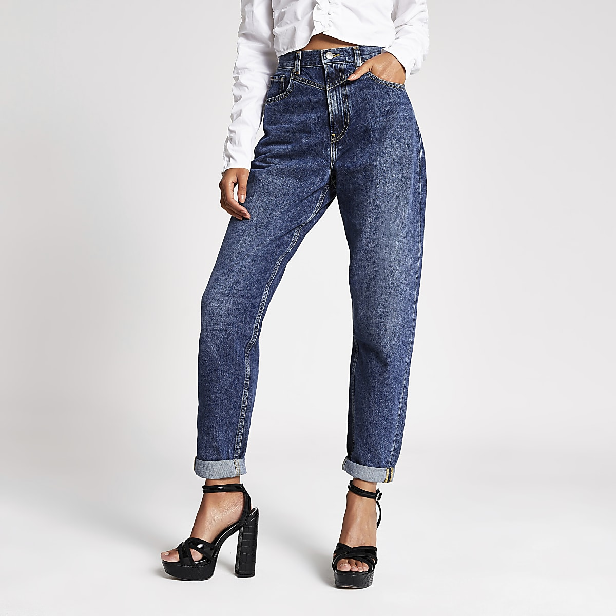 Dua Lipa x Pepe Jeans blue denim jeans