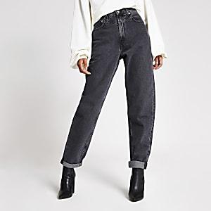Dua Lipa x Pepe Jeans - Schwarze Jeans im Washed-Look