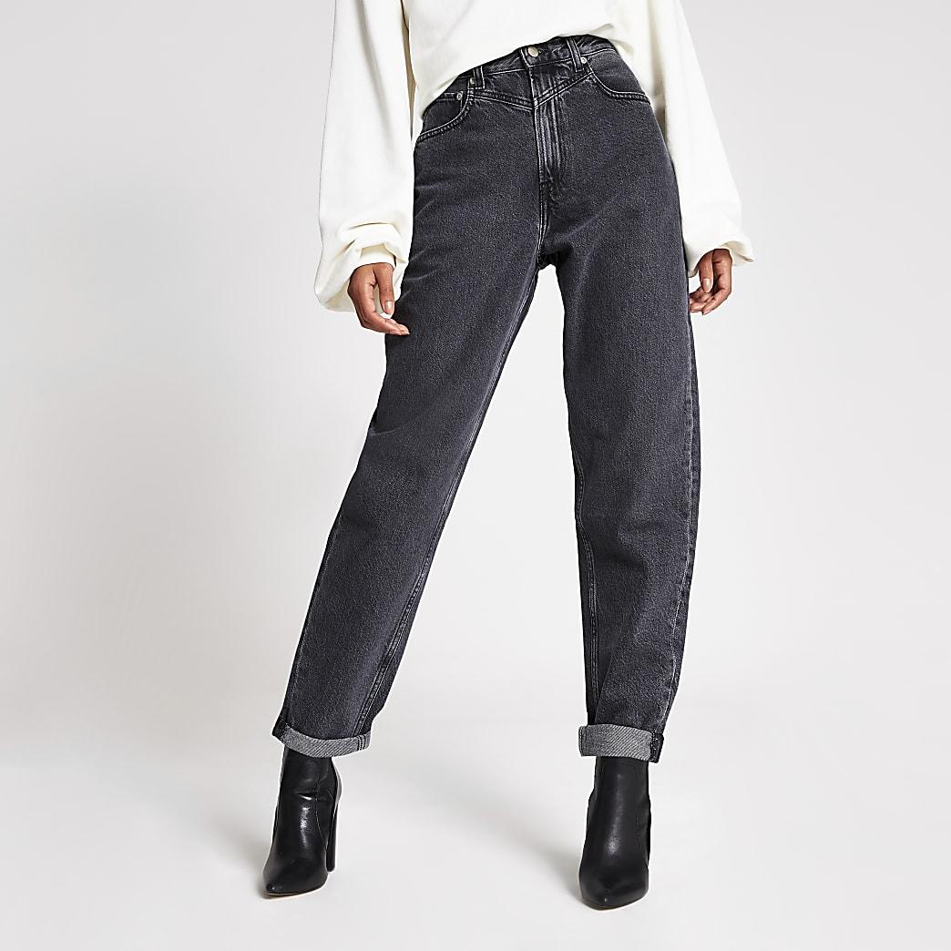 Dua Lipa x Pepe Jeans -Jean en denimnoir délavé