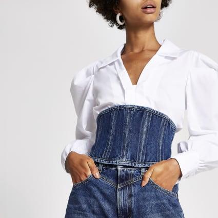 Dua Lipa x Pepe Jeans denim corset