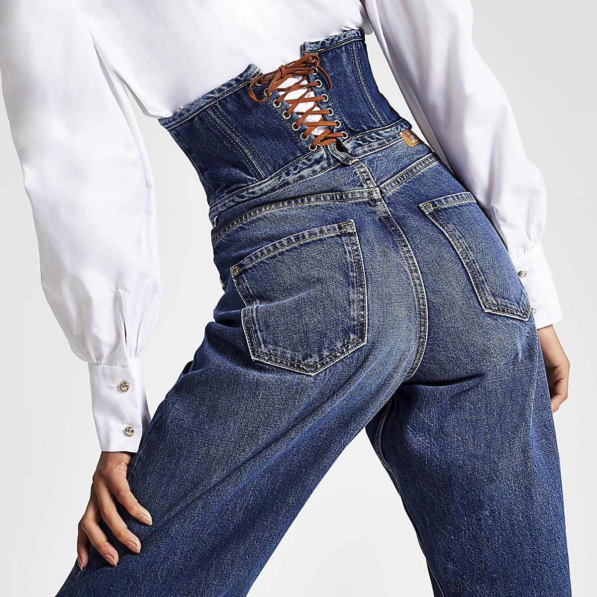 the latest bced0 97e9f Dua Lipa x Pepe Jeans denim corset