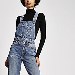 Dua Lipa x Pepe Jeans - Blauw denim hemdje