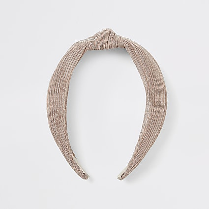 Light beige knot headband