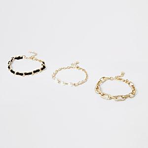 Goudkleurige combineerbare armbanden