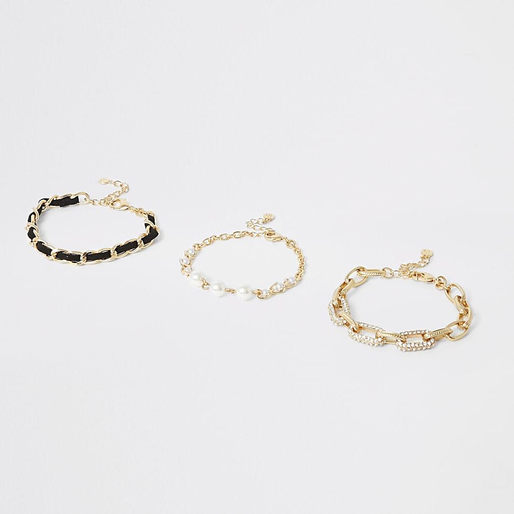 Bracelets dorés à juxtaposer