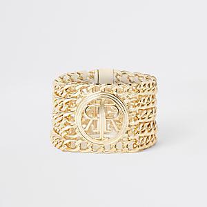 Goldfarbenes Kettenarmband von RI