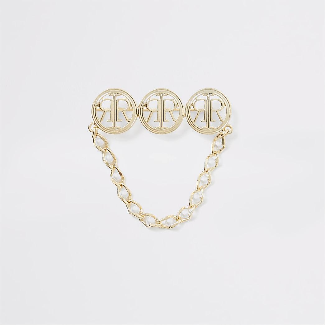 Gold colour RI charm bracelet