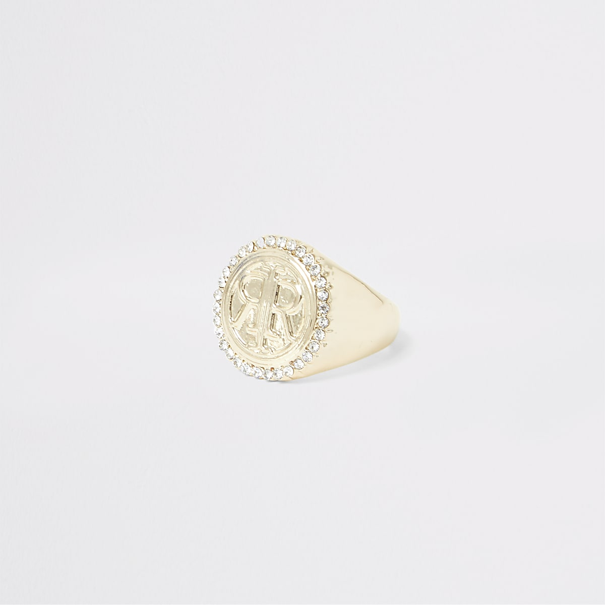 Gold colour RI signet ring