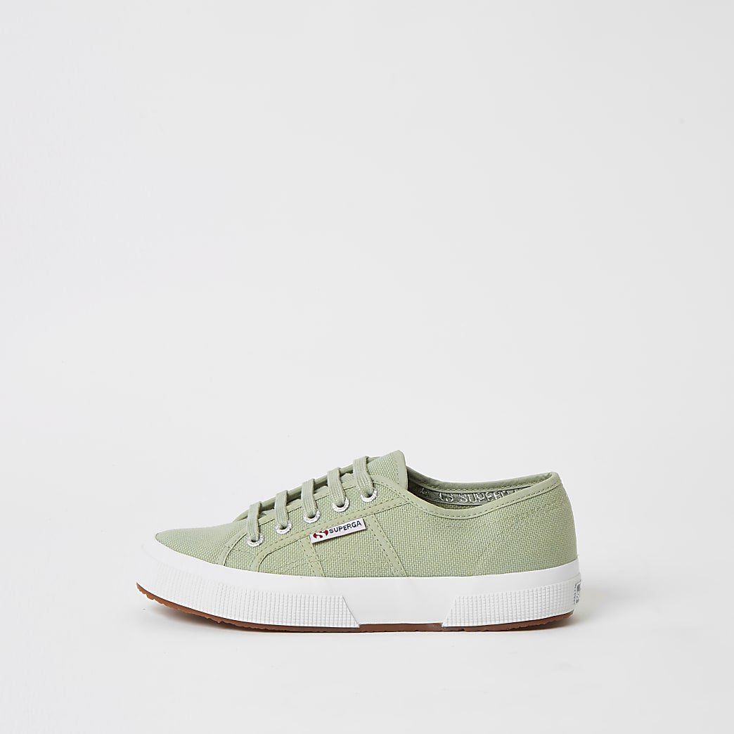 Superga mint classic lace-up trainers