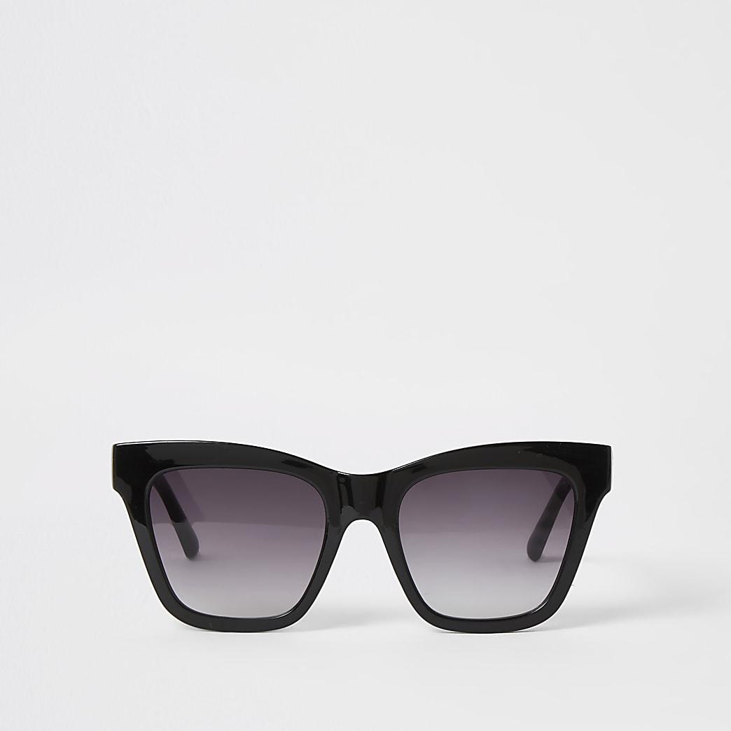 Black chain embossed glam sunglasses