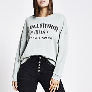 "Grünes Sweatshirt ""Hollywood Hills"""