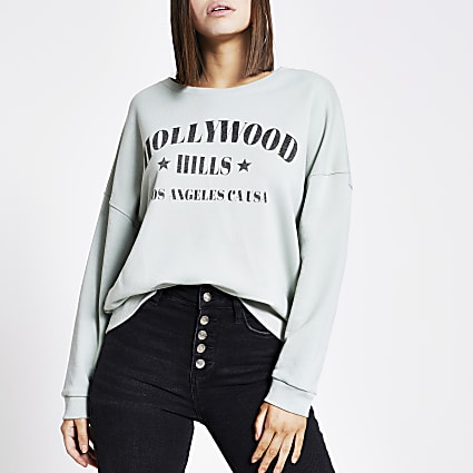 Green 'Hollywood hills' sweatshirt