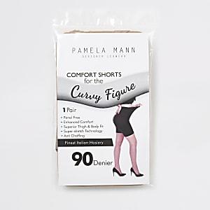 Beige 90 denier anti chafing shorts