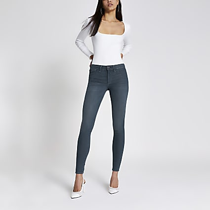 Dark grey Molly mid rise jeggings