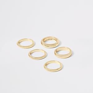 Multipack goudkleurige ringen