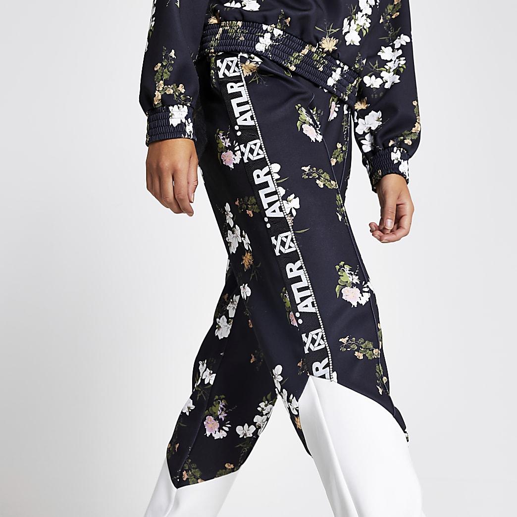 Pantalon de jogging noir avec bandeà inscription« ATLR »