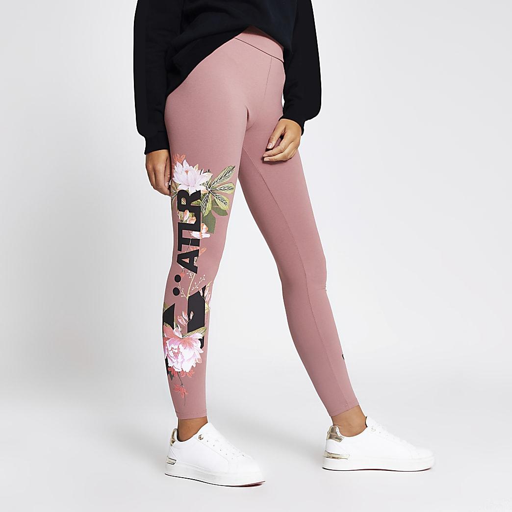 Pink ATLR floral printed leggings