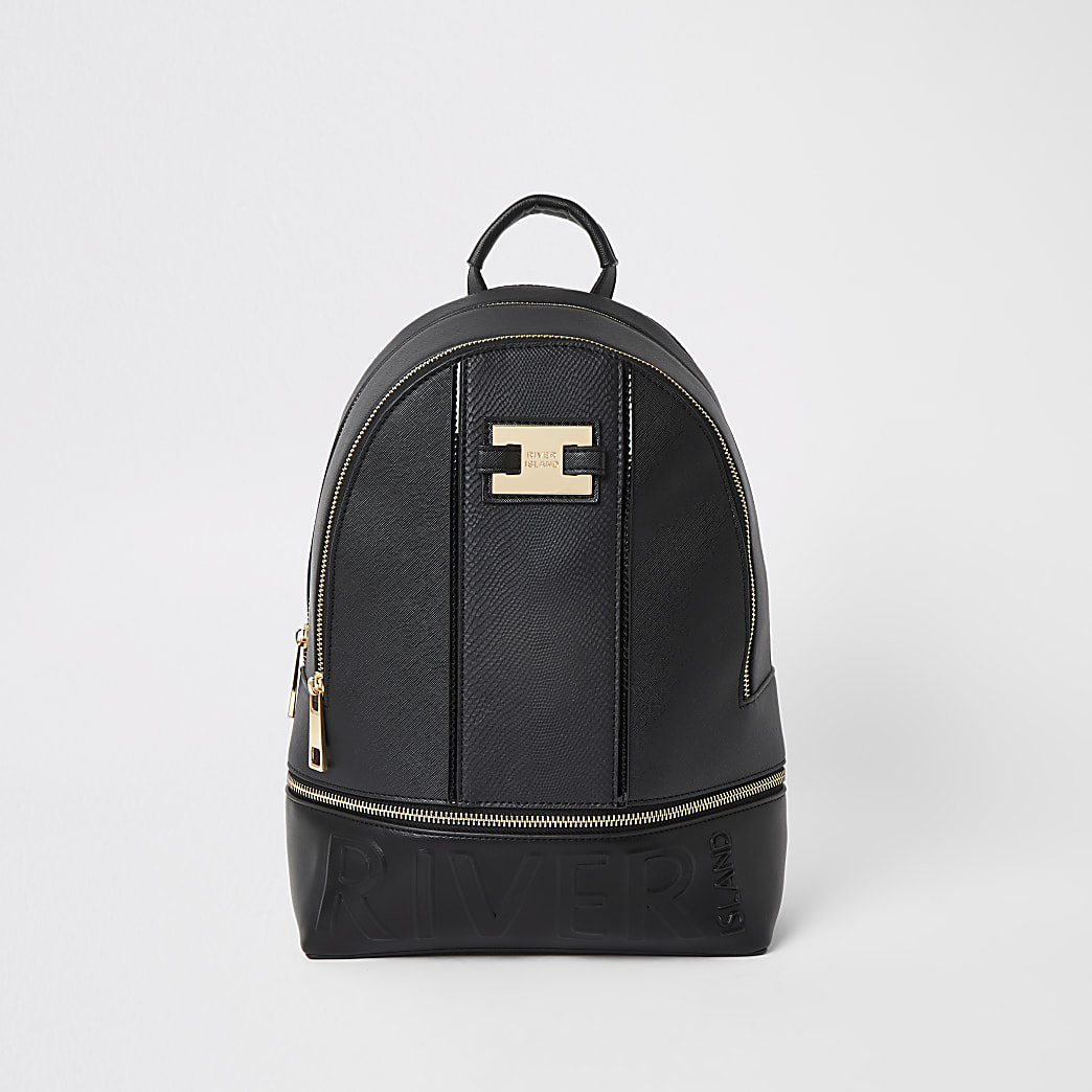 Sac à dos zippé avec «River» en relief noir