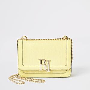 GelbeSatchel-Tasche mit RI-Prägung