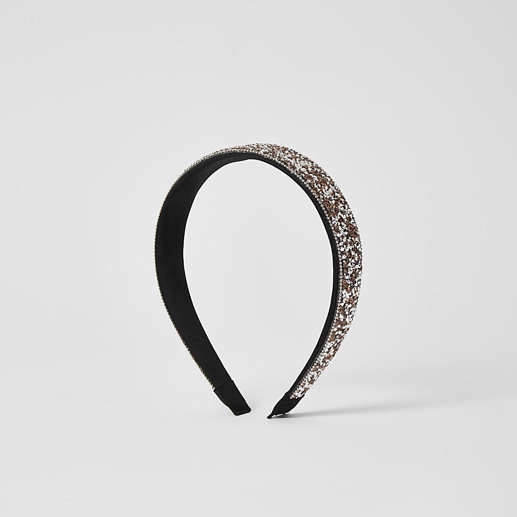 Roségouden verfraaide hoofdband
