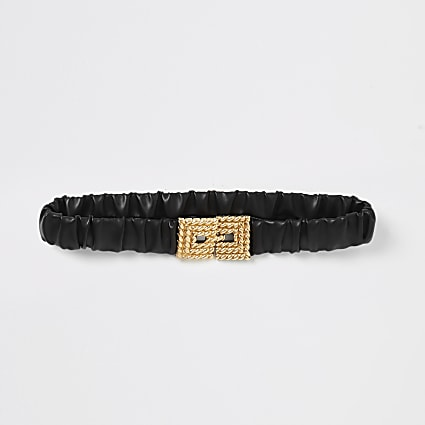 Black elasticated buckle belt