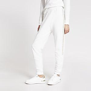 Pantalons de jogging crèmeornés
