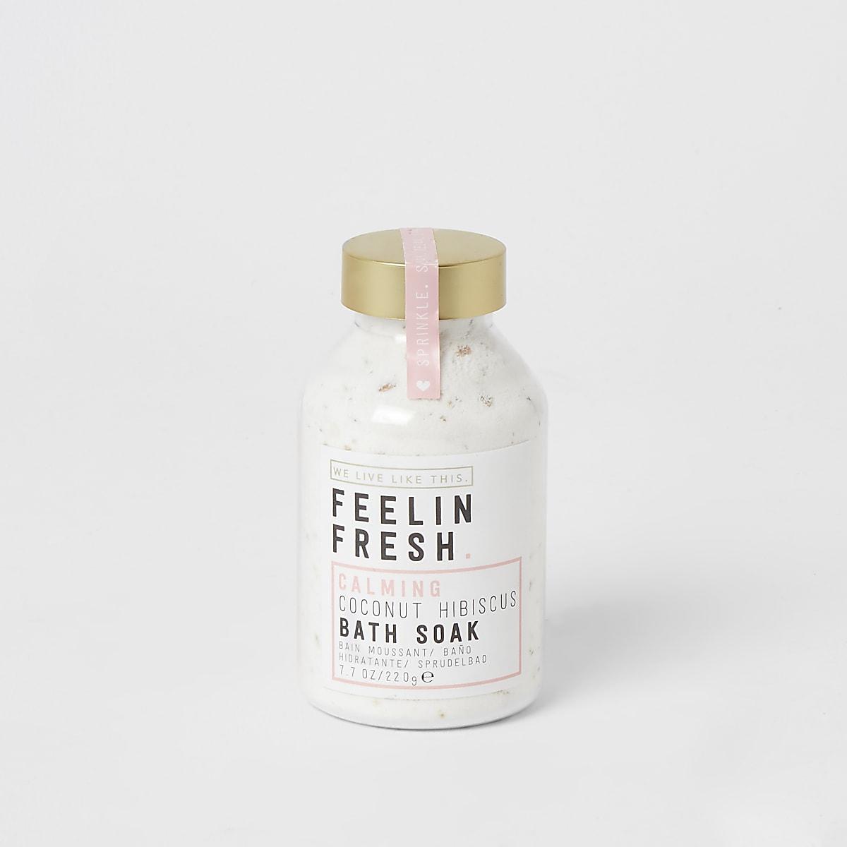 Feelin fresh coconut hibiscus bath soak