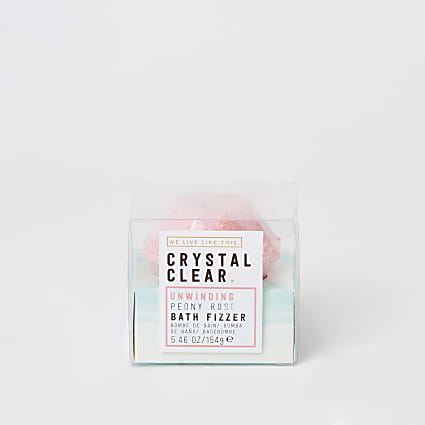 Crystal clear peony rose bath jewel fizzer